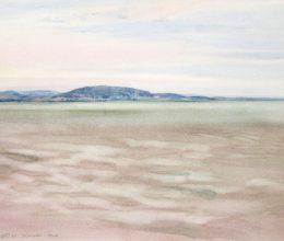 Balaton, északi part II. akvarell,papír 30x40 cm 2018.