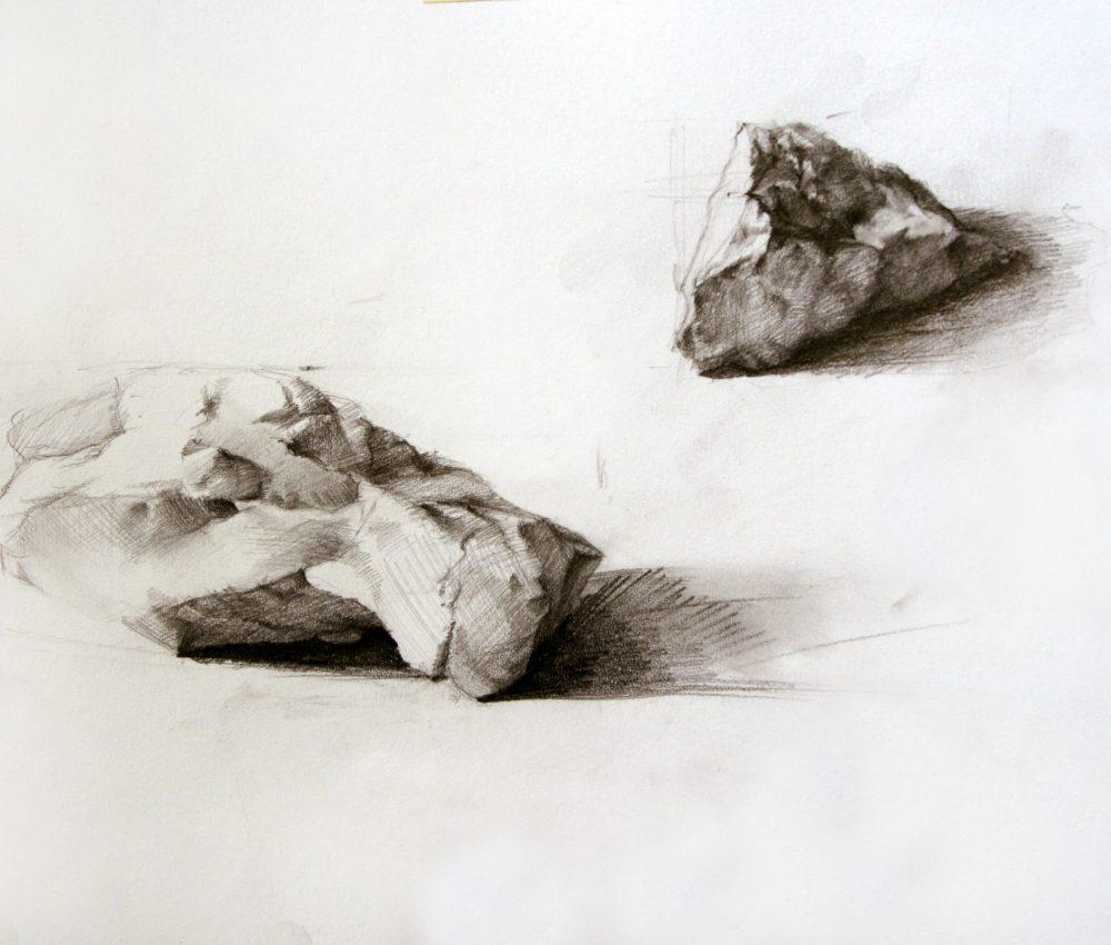 Kövek ceruza, papír 2009.