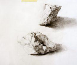 Kövek III. ceruza, papír 2009.