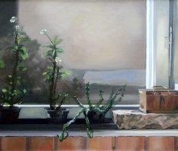 Ablakban olaj, vászon 60 x100 cm 2011.