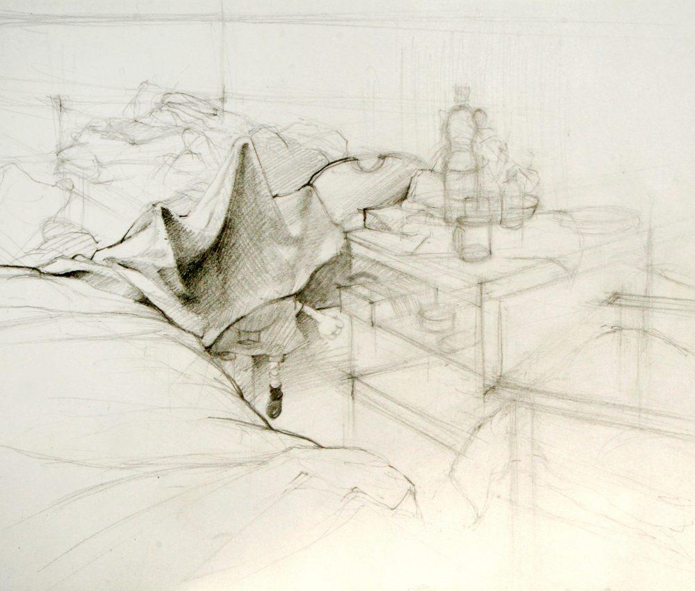 Békéscsaba ceruza, papír A4 2009.