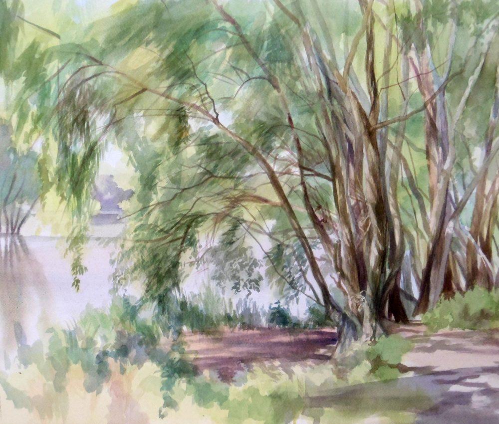 Nyár van akvarell, papír 40x60 cm 2018.
