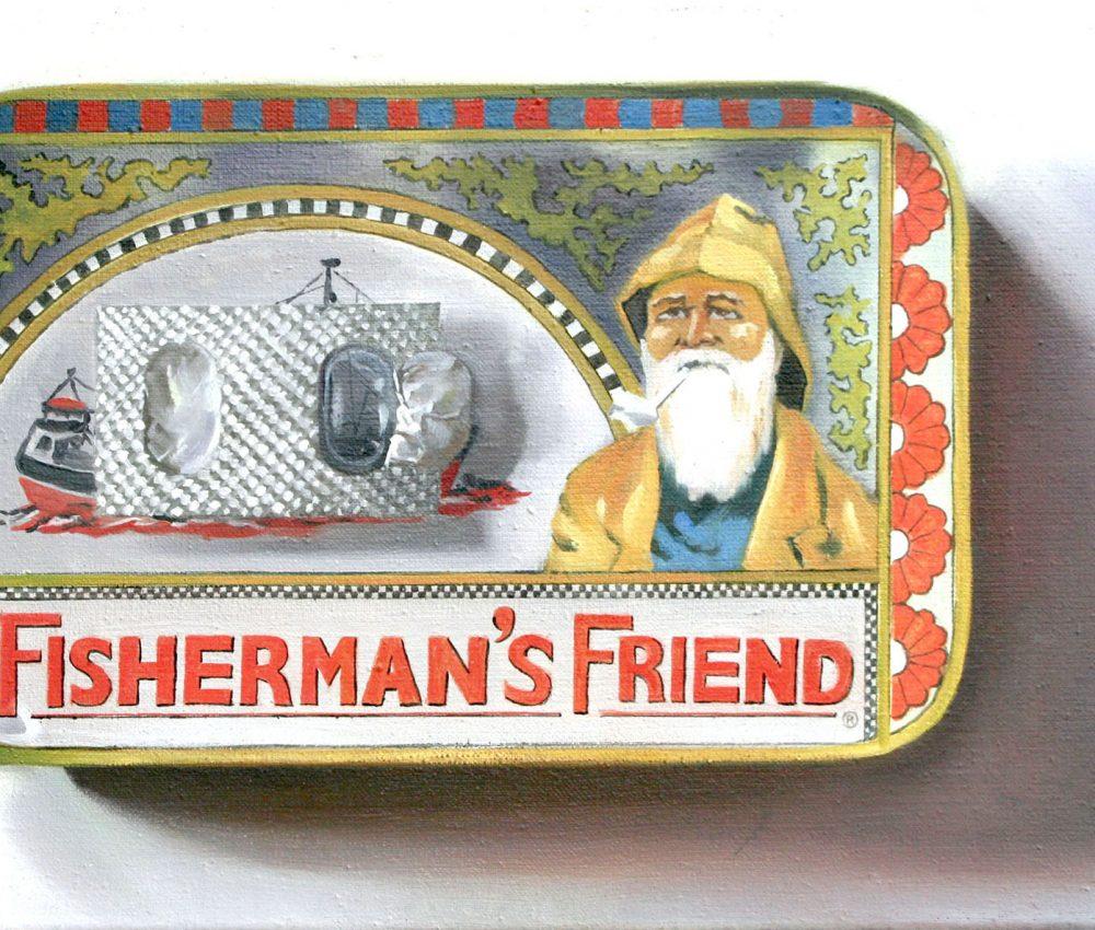 Fisherman_s Friend olaj, vászon 30x40 cm 2011.