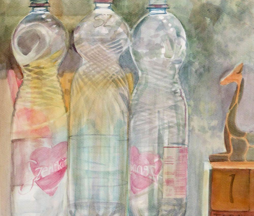 Szép a kilátás akvarell, papír 65x45 cm 2019.