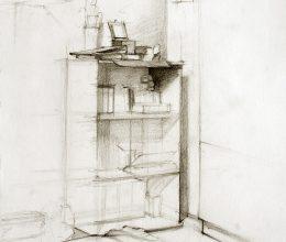 Otthon ceruza, papír 22 x 17 cm 2011