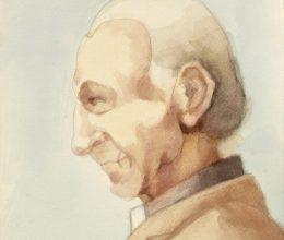 Tanulmány a Foucauld szekkóhoz III. akvarell A4 2009. (2)