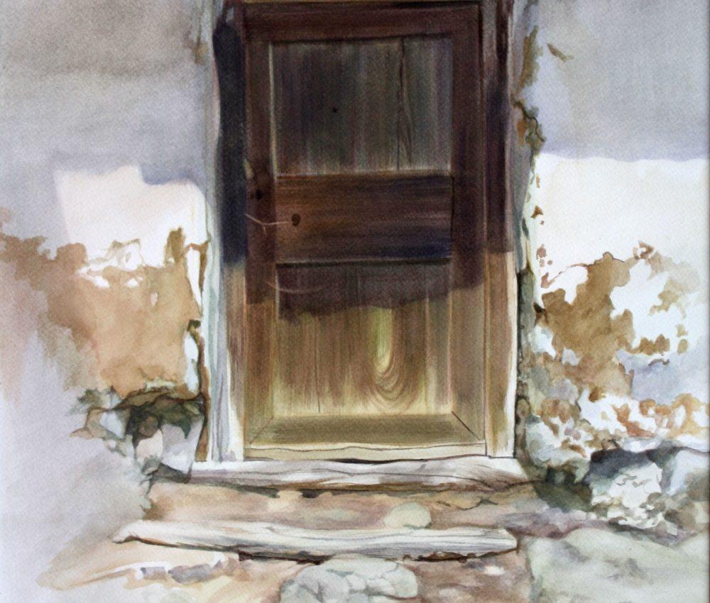 Istállóajtó Litkén akvarell, papír 70x50 cm 2017.