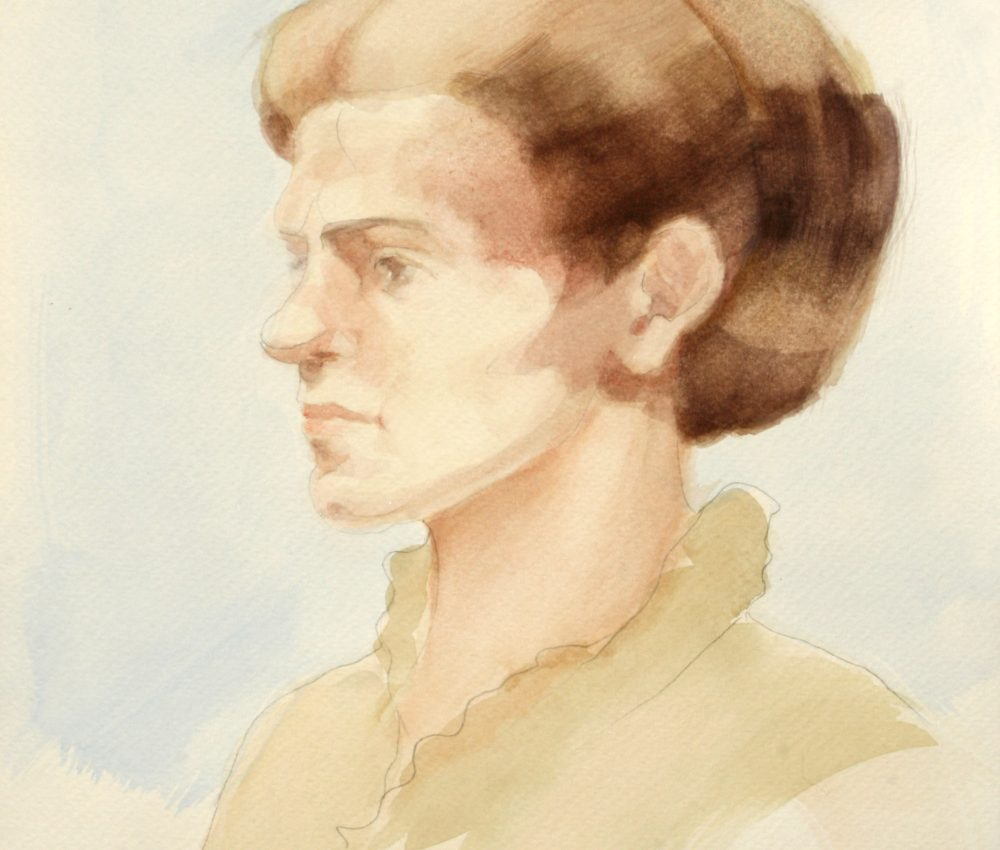 Tanulmány a Foucauld szekkóhoz V. akvarell A4 2009.