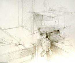 Szolnok II. ceruza, papír 2009.