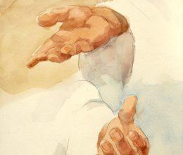 Tanulmány a Foucauld szekkóhoz I. akvarell A4 2009.