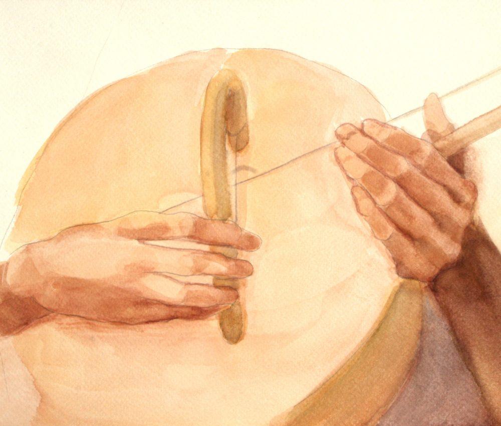 Tanulmány a Foucauld szekkóhoz VII. akvarell A4 2009.