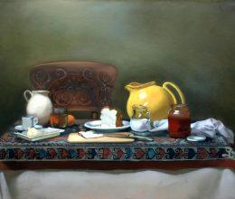 Asztal olaj, vászon 80x100 cm 2009.