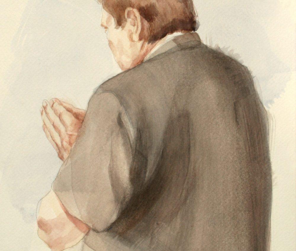 Tanulmány a Foucauld szekkóhoz VIII. akvarell A4 2009.