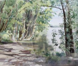 Kint van a Duna akvarell, papír 40x60 cm 2014.