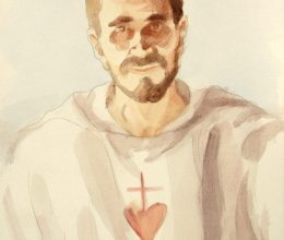 Tanulmány a Foucauld szekkóhoz X. akvarell A4 2009.