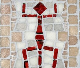 Ausztrál törzsi minta mozaik 25x20 cm 2005.