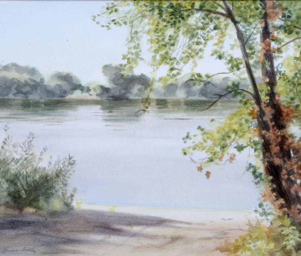 Dunánál akvarell, papír 32x44 cm 2012.