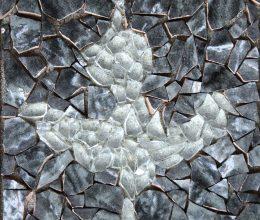 Bambuszcső díszítés - madár- Santa Cruz szigetek Mozaik 25 x 20 cm 2012.
