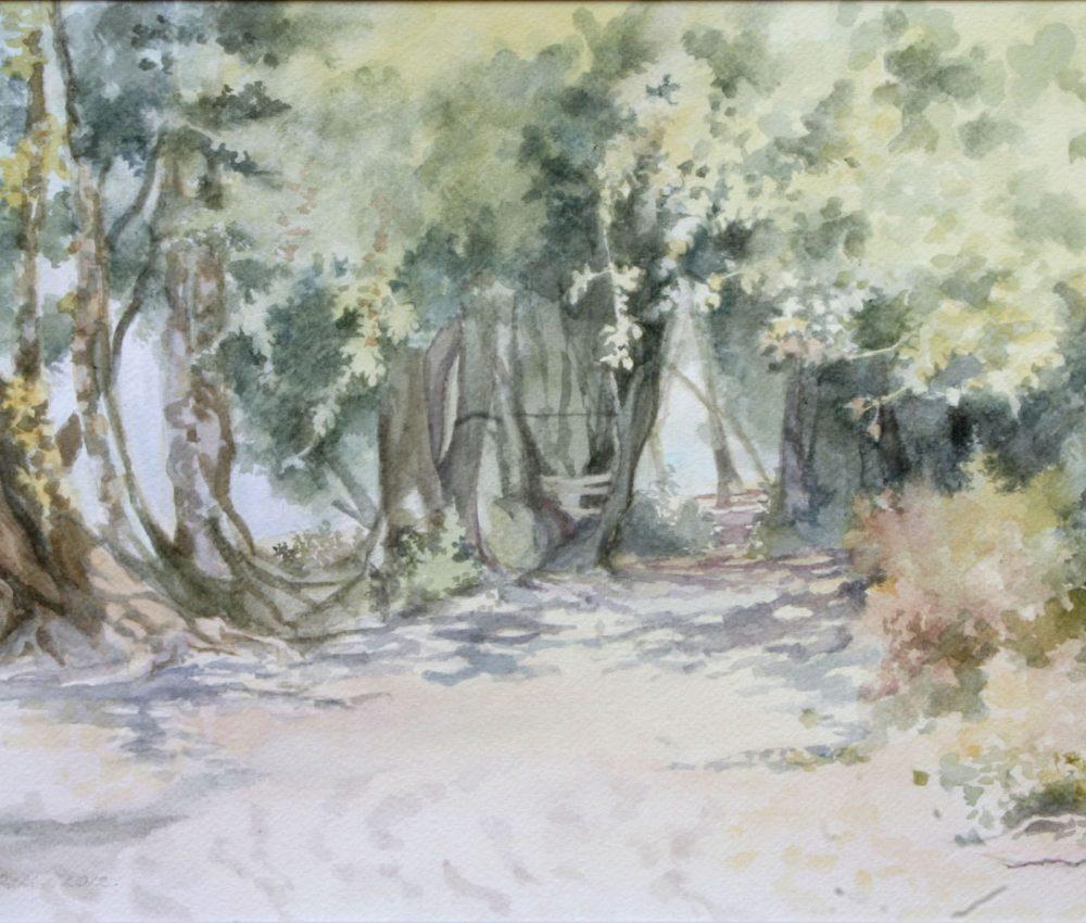 Duna-parti fák akvarell, papír 32x44 cm 2012.