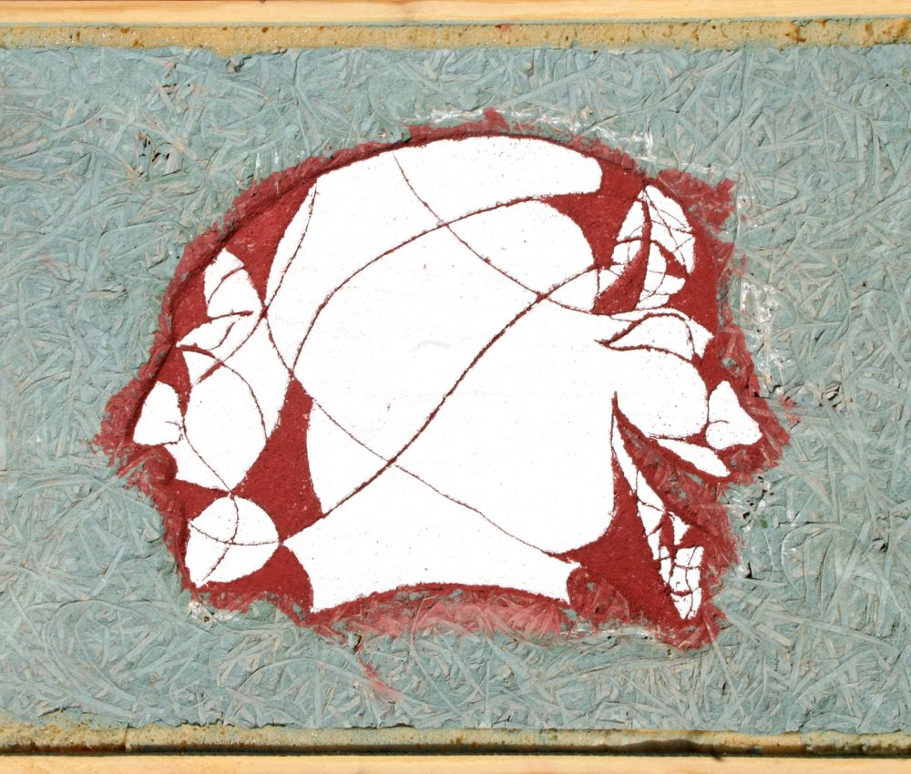 Sgrafitto ( fejek ) 40x55 cm 2005.