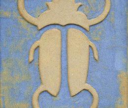 Skarabeusz bogár sgrafitto 55x35 cm 2005.