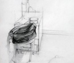 Táska ceruza, papír 2010.