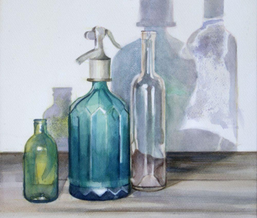 Üvegek akvarell, papír 32x44 cm 2011.