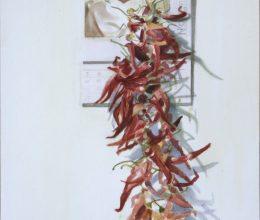 Pápa paprikával akvarell, papír 32x44 cm 2012.