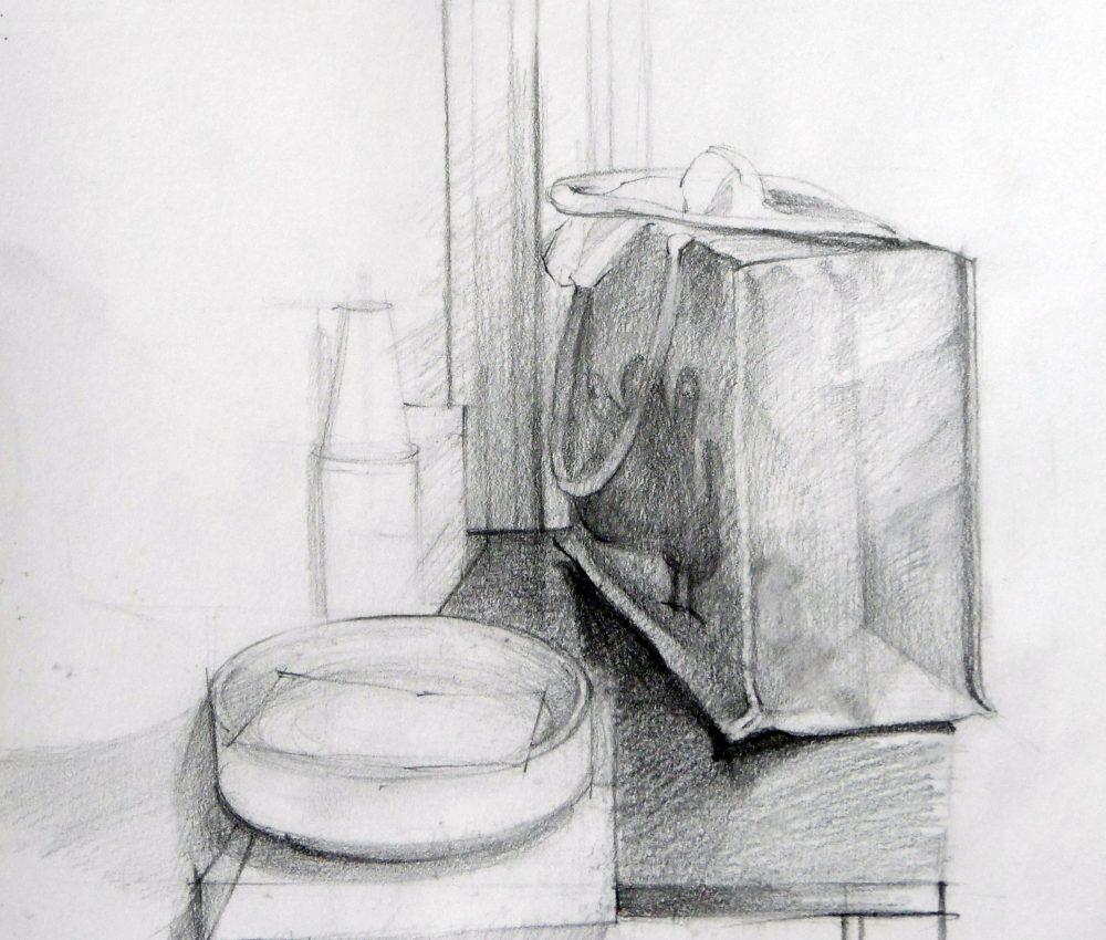 Szatyor ceruza, papír 2010.