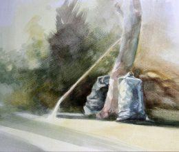 Zsákok akvarell, papír 20x30 cm 2011.