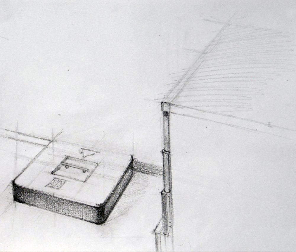Doboz ceruza, papír 2010.