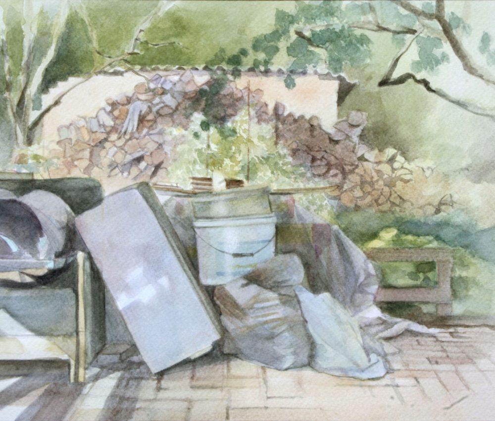 Kert vége akvarell, papír 20x30 cm 2012.