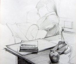 Asztal részlet ceruza, papír 2011.