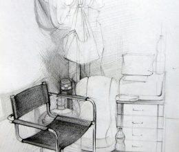 Irodaszék ceruza, papír 2010.