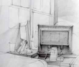 Iroda ceruza, papír 2010.