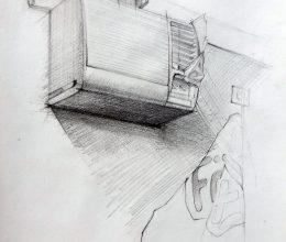 Légkondi ceruza, papír 2011.