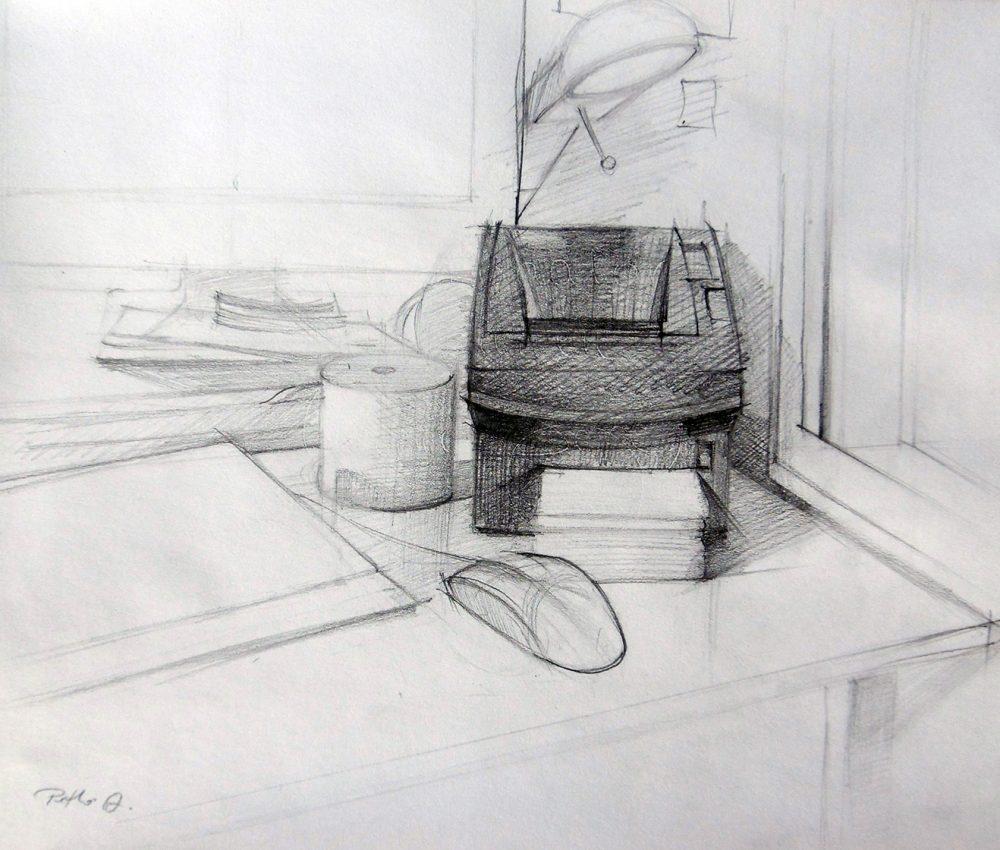 Nyomtató ceruza, papír 2011.