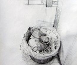 Szemetes ceruza, papír 2011.