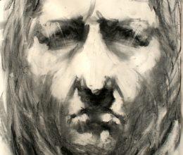 Passió - stáció VIII. 100x70 cm szén, papír 2003.