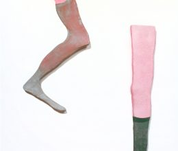 Próbaláb III-VII. (Shopping) festett hungarocell 2001.